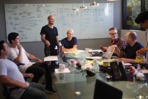 RKS design team workshopping new projects in the conference room